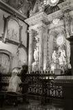 在圣诞老人Iglesia Catedral Basilica de la恩卡纳西翁马拉加 免版税库存照片