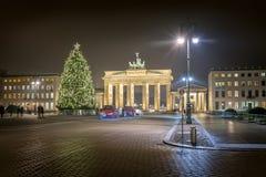 在圣诞节前的柏林 库存照片