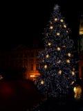在圣诞节布拉格结构树之上 库存照片