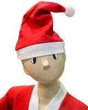 在圣诞节帽子的滑稽的时装模特 图库摄影