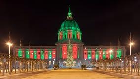 在圣诞节期间的旧金山 库存图片