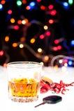 在圣诞节期间,不要喝并且不要驱动 库存照片