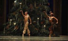 在圣诞节树阿拉伯半岛音乐咖啡-芭蕾胡桃钳下的一个祷告 图库摄影