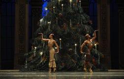 在圣诞节树阿拉伯半岛音乐咖啡-芭蕾胡桃钳下的一个祷告 免版税库存照片