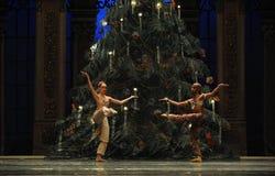 在圣诞节树阿拉伯半岛音乐咖啡-芭蕾胡桃钳下的一个祷告 库存照片