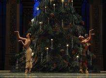 在圣诞节树阿拉伯半岛音乐咖啡-芭蕾胡桃钳下的一个祷告 库存图片