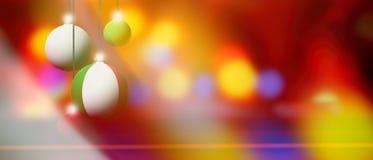 在圣诞节球的LItaly旗子有被弄脏的和抽象背景 免版税图库摄影