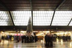 在圣诞节的圣玛丽亚中篇小说火车站 库存照片