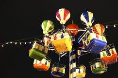 在圣诞节的圣诞节转盘公平在莫斯科 免版税库存图片