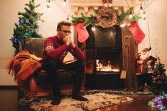 在圣诞节的寂寞 库存图片