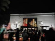 在圣诞节的寺庙正方形 库存图片
