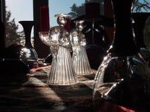 在圣诞节的蜡烛 免版税图库摄影