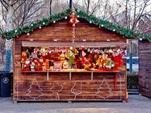 在圣诞节的零售店 库存图片