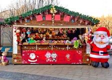 在圣诞节的零售批发市场 免版税图库摄影