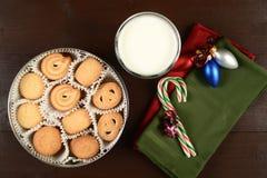 在圣诞节的黄油曲奇饼 图库摄影
