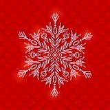在圣诞节背景的白皮书雪花 库存图片