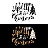 在圣诞节行情上写字的手 向量例证