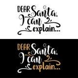 在圣诞节行情上写字的手 皇族释放例证