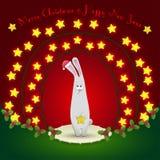 在圣诞节装饰的兔子 库存照片