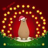 在圣诞节装饰的熊 免版税图库摄影