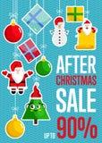 在圣诞节销售传染媒介概念以后 库存例证