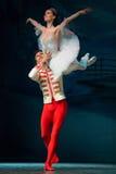 在圣诞节魔术幻想芭蕾的美好的对 免版税库存照片
