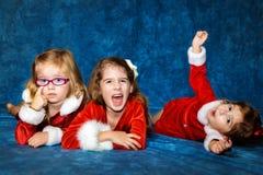 在圣诞节画象的尝试 库存照片