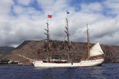 在圣赫勒拿海岛的荷兰高船吠声欧罗巴 免版税库存图片