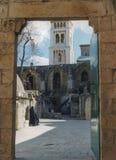 在圣赫勒拿` s教堂上的埃赛俄比亚的修道院 免版税库存照片