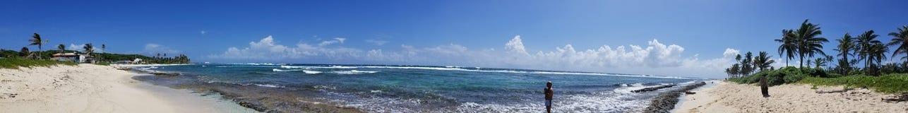在圣路易斯附近的珊瑚海滩 免版税库存照片