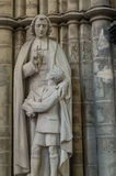 在圣迈克尔和圣Gudula布鲁塞尔大教堂的雕象  免版税库存图片