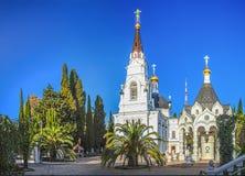在圣迈克尔大教堂的疆土的棕榈树天使 2014 2018场杯子比赛奥林匹克俄国索契冬天世界 图库摄影