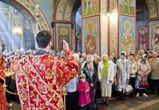 在圣迈克尔的大教堂的仪式 免版税图库摄影