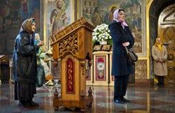 在圣迈克尔的大教堂的仪式 库存照片