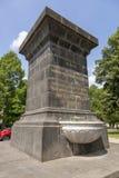 在圣铸工大教堂的喷泉在市科布伦茨 库存图片