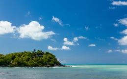 在圣马丁的男修道士的海湾在加勒比 库存图片