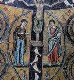 在圣马克,威尼斯,意大利大教堂的马赛克  图库摄影