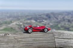 在圣马力诺的著名红色汽车 库存照片