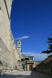 在圣马力诺的街道的一张视图 免版税图库摄影