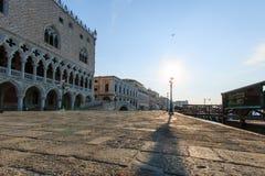 在圣马可广场,威尼斯的日出 图库摄影