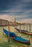 在圣马可广场,威尼斯,意大利的钟楼塔 免版税图库摄影