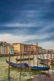 在圣马可广场,威尼斯,意大利的钟楼塔 库存图片