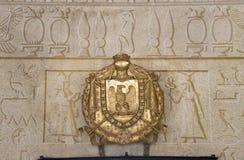 在圣马蒂诺别墅的埃及标志在厄尔巴岛海岛上的在意大利,欧洲托斯卡纳群岛,拿破仑Bonapart 库存图片