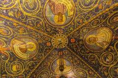 在圣洁坟墓, Jerusal的大教堂的美丽的马赛克 免版税库存照片