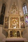 在圣洁寺庙Marianka的主要法坛从西方斯洛伐克 库存图片