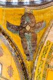 在圣索非亚大教堂伊斯坦布尔的天花板天使 库存图片