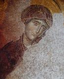 在圣索非亚大教堂大教堂,伊斯坦布尔的拜占庭式的马赛克 库存照片