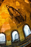 在圣索非亚大教堂的古老马赛克,伊斯坦布尔 库存图片