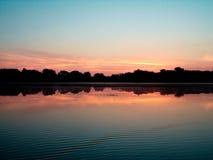 在圣洁Name湖的日出 免版税库存照片