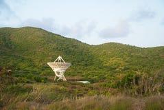 在圣Croix,美国维尔京群岛的美国航空航天局卫星 库存图片